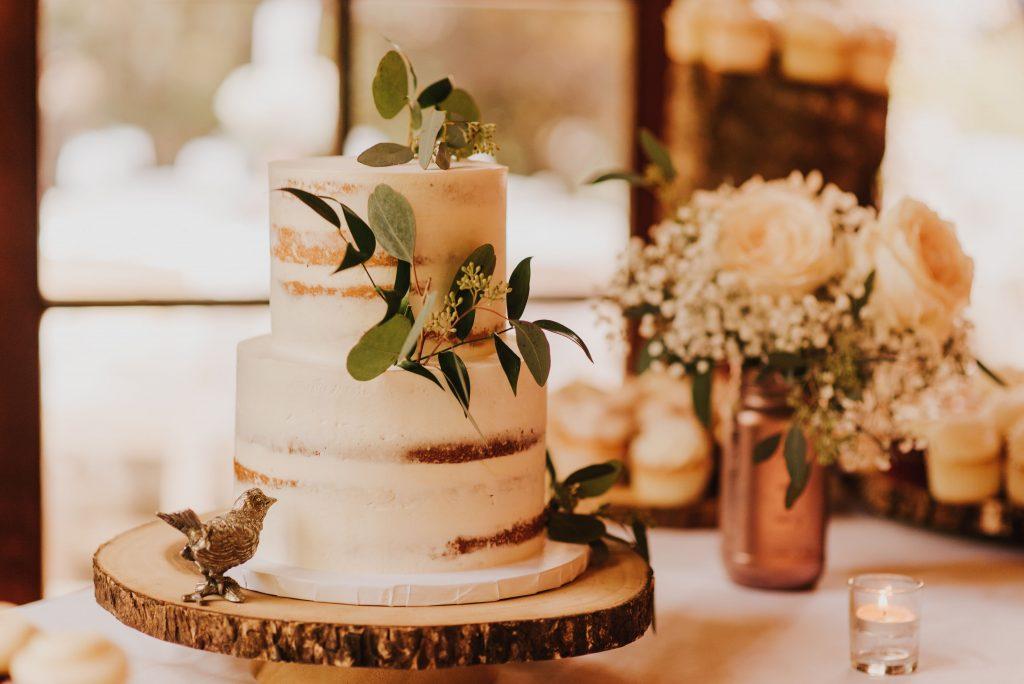 naked cake, rose gold, simple wedding cake, tiered wedding cake, washington wedding vendor, cake vendor