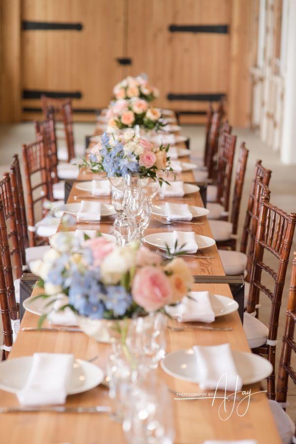 reception, tablescape, head table, long banquet table