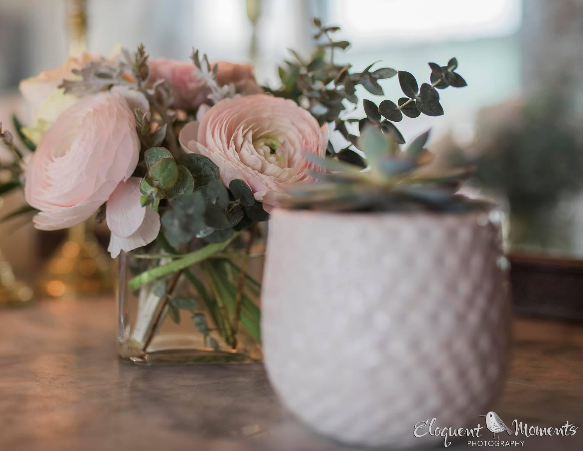An All Greenery Bridal Bouquet for a Minimalist Urban Wedding