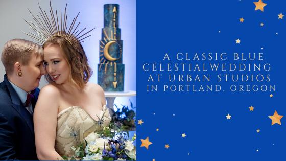 A classic blue celestialwedding at urban studios in portland