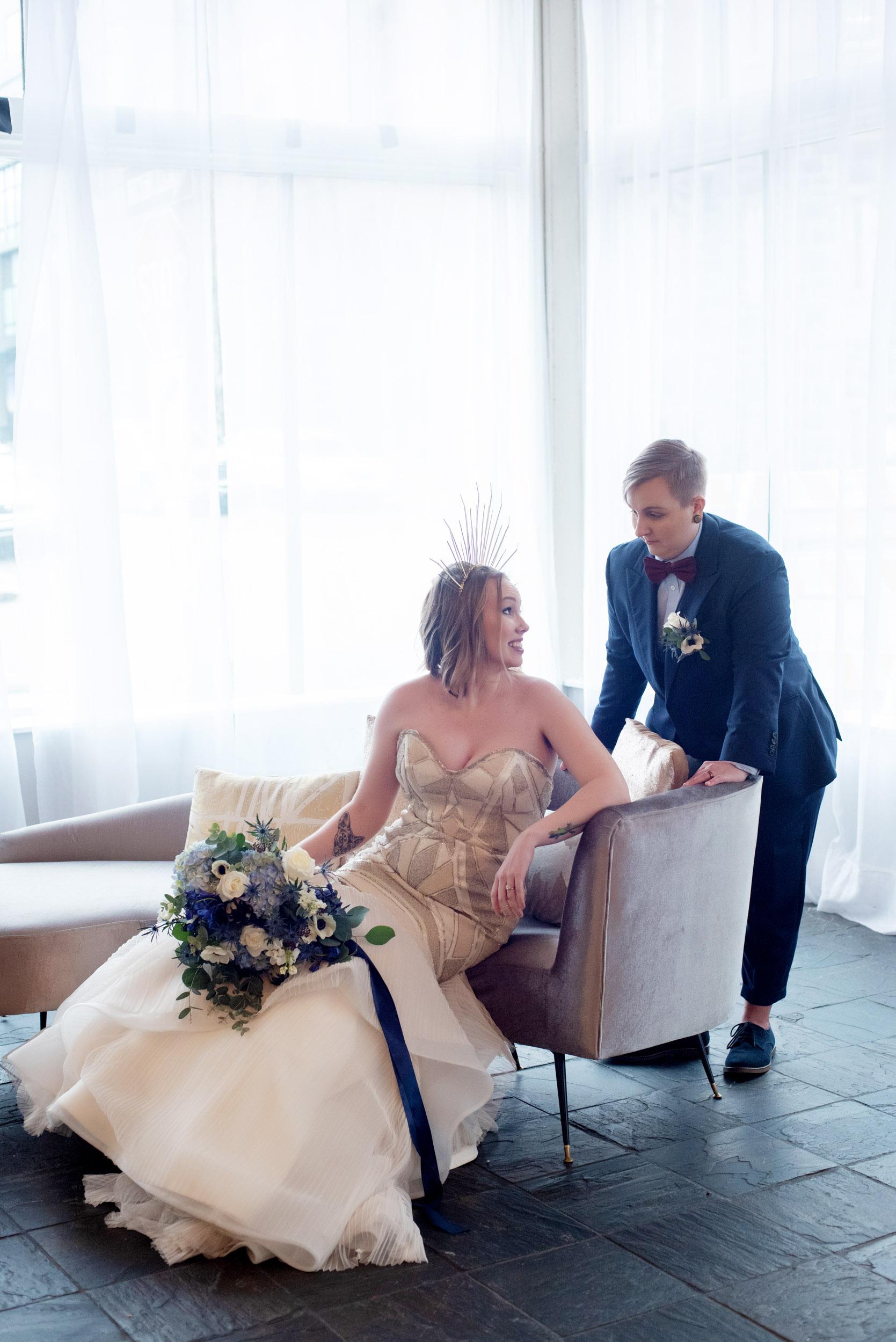 Celestial Classic Blue Wedding at Urban Studio