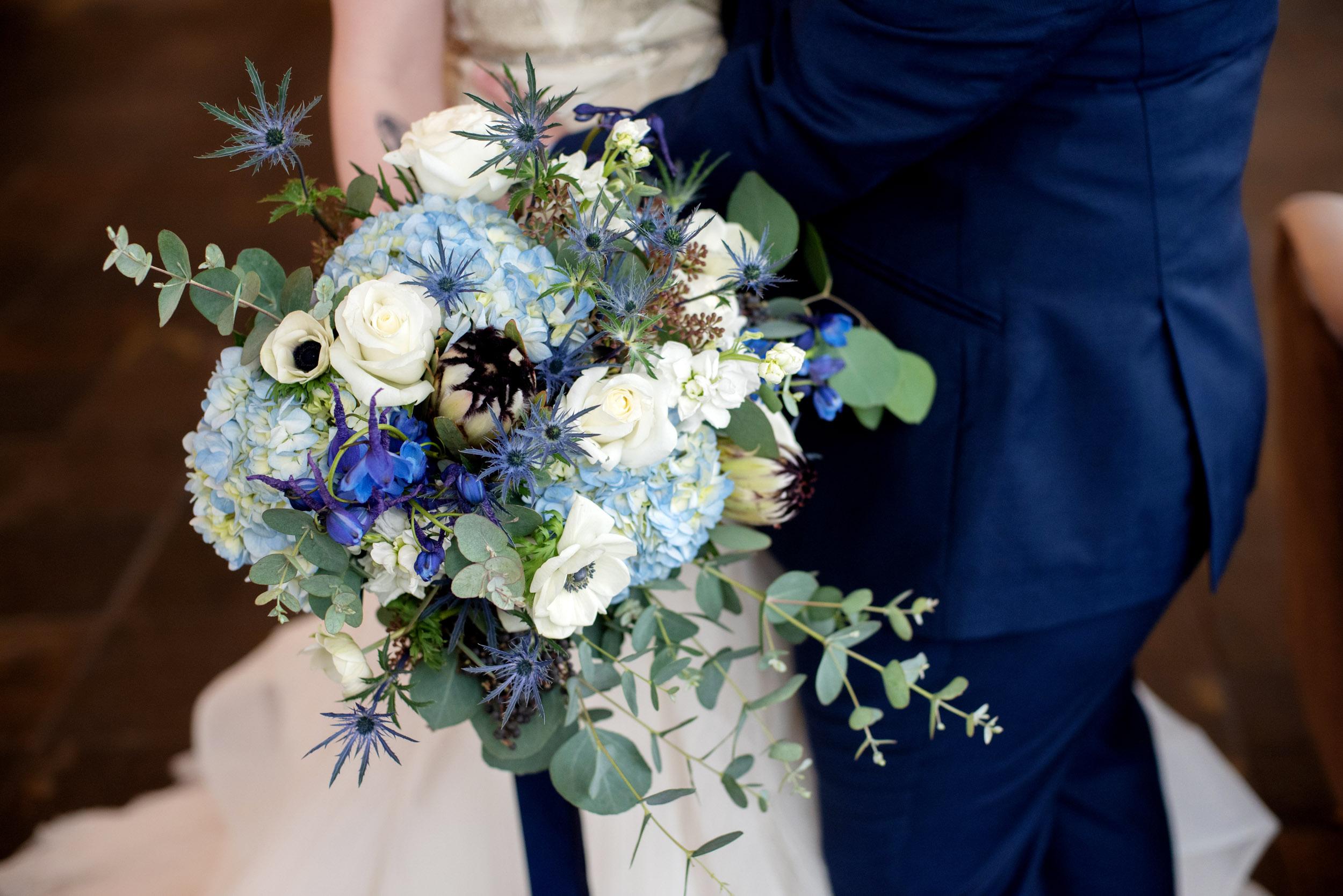 A Classic Blue Celestial Wedding at  Urban Studios in Portland, Oregon