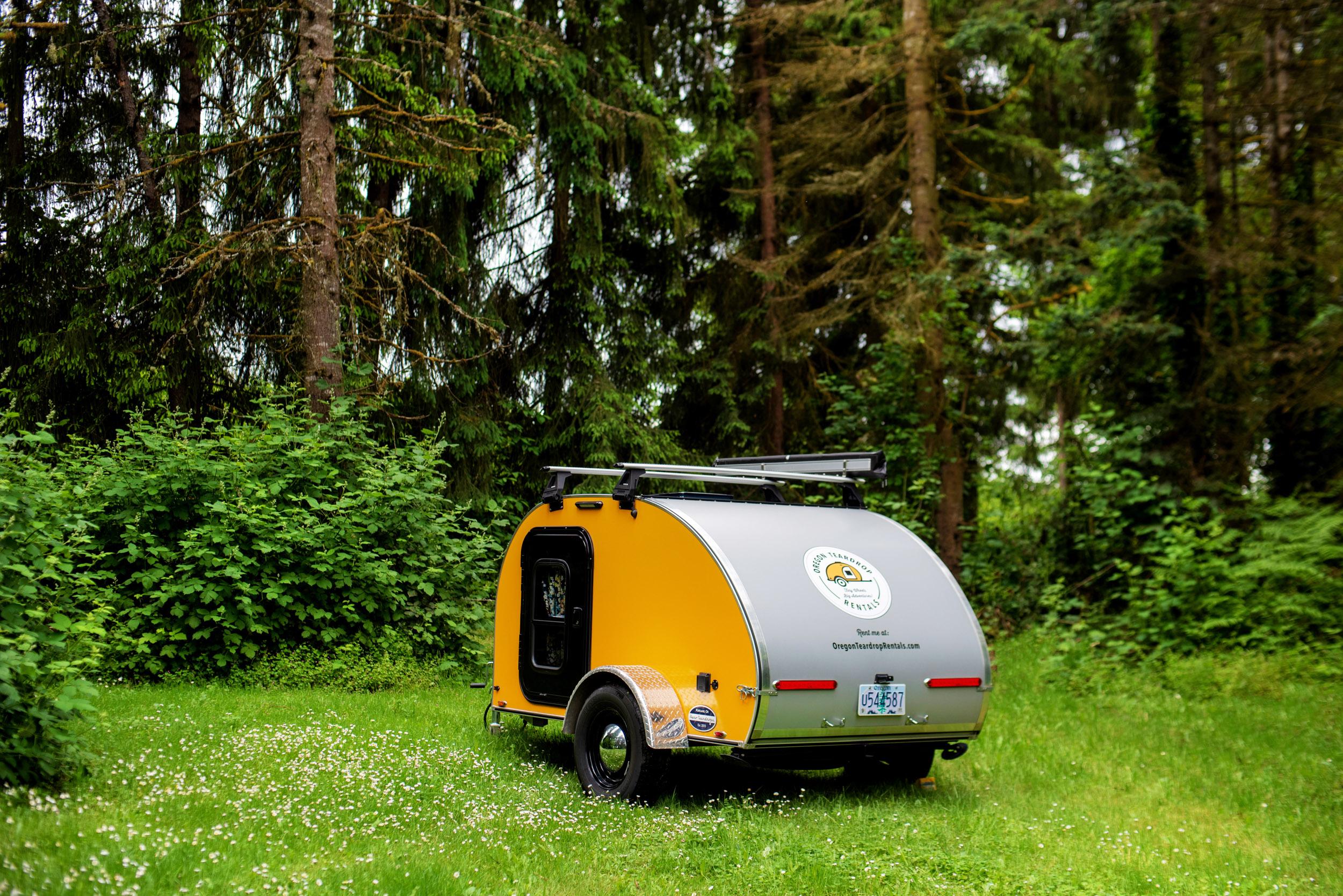 Oregon Teardrop Trailer Camper Pop-up Elopement Wedding