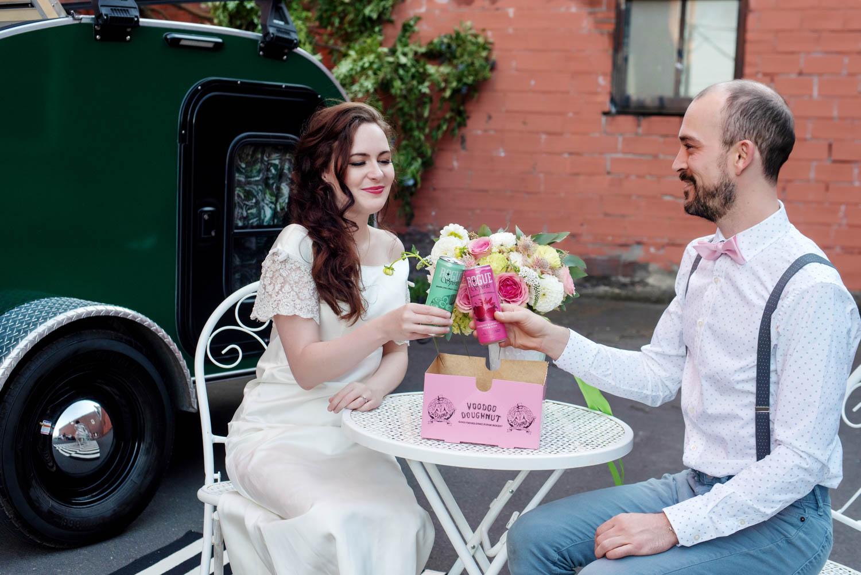 Wedding on Wheels, take two: an Urban Hipster Elopement shoot in Portland, Oregon