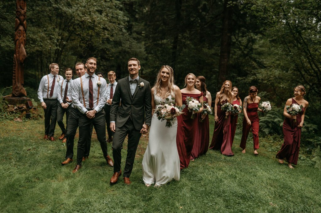 An Intimate Mountain Cabin Wedding in the Mount Hood Forest near Portland, Oregon