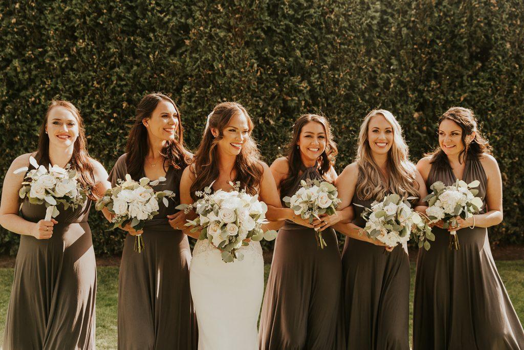 bridesmaid bouquets, wedding flowers, bridal bouquet, romantic flowers, wedding florist, portland wedding florist, oregon wedding florist