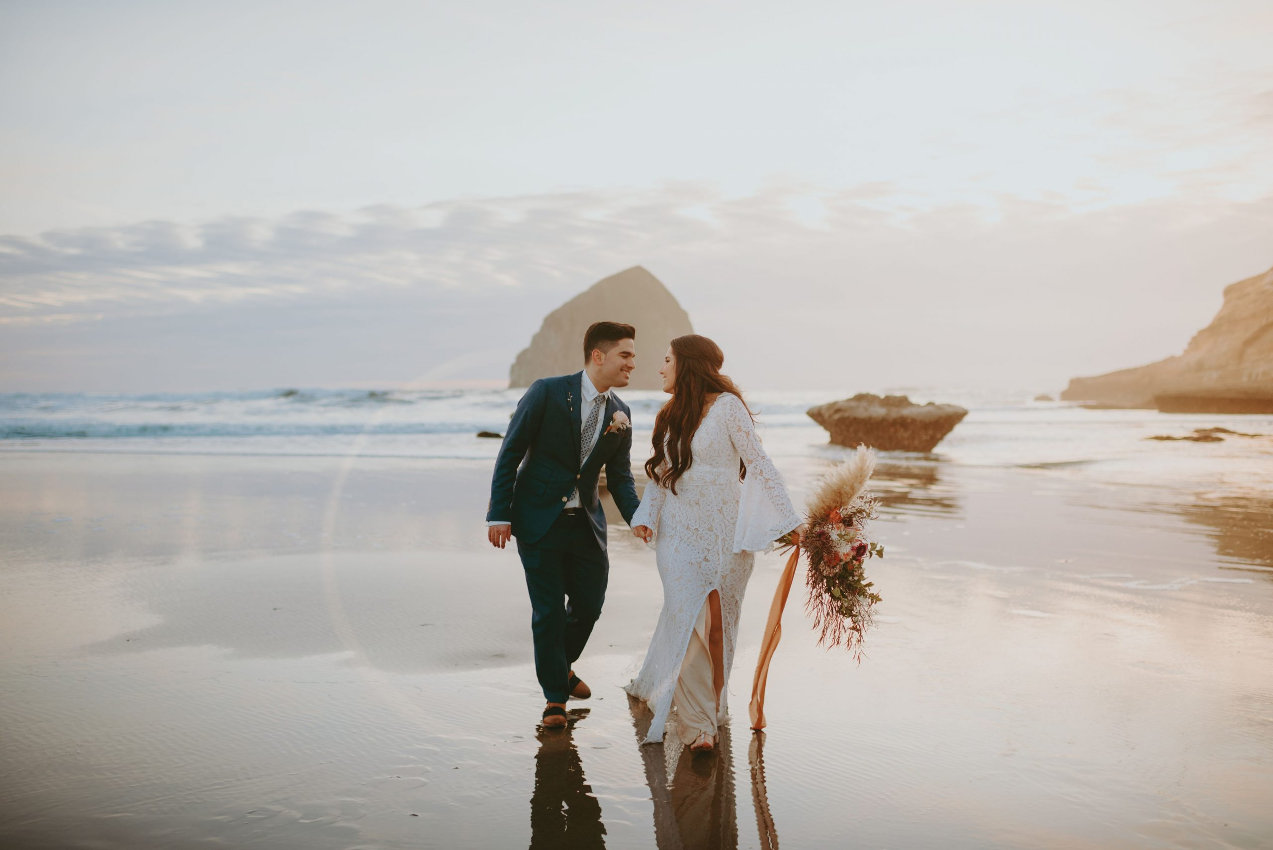 Couple Adventure Session at Cape Kiwanda on the Oregon Coast