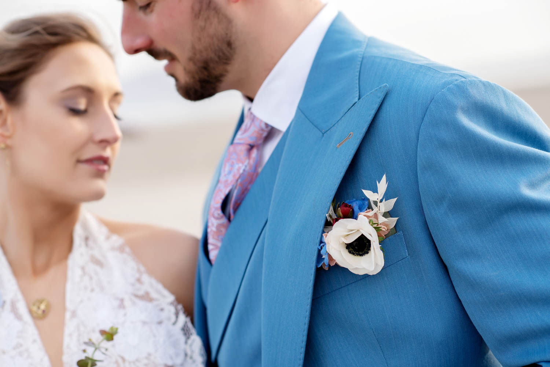 boutonniere, flower pocket square, boutonniere alternative, oregon coast wedding, portland wedding flowers, portland wedding florist, oregon wedding flowers, oregon wedding florist
