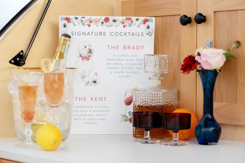 signature cocktail, wedding cocktail, wedding signature cocktail, wedding stationery, handlettering, wedding details