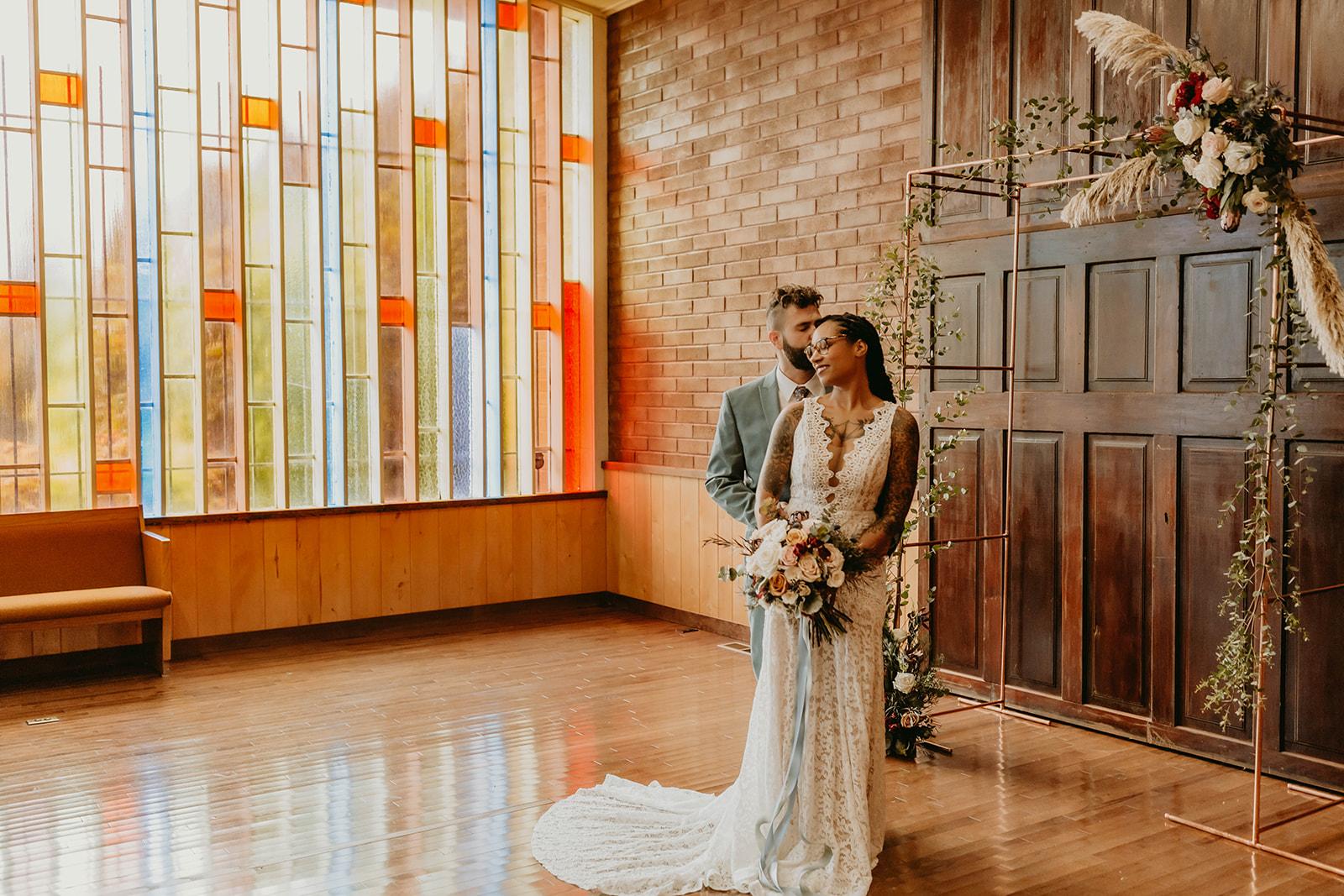 Romantic Chapel Wedding at the Hubbard Chapel near Portland, Oregon
